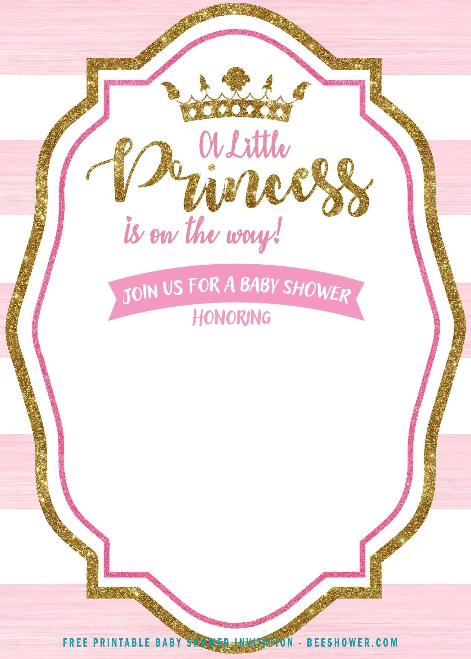 004 Surprising Princes Baby Shower Invitation Template Design  Templates Little Royal Red DisneyFull