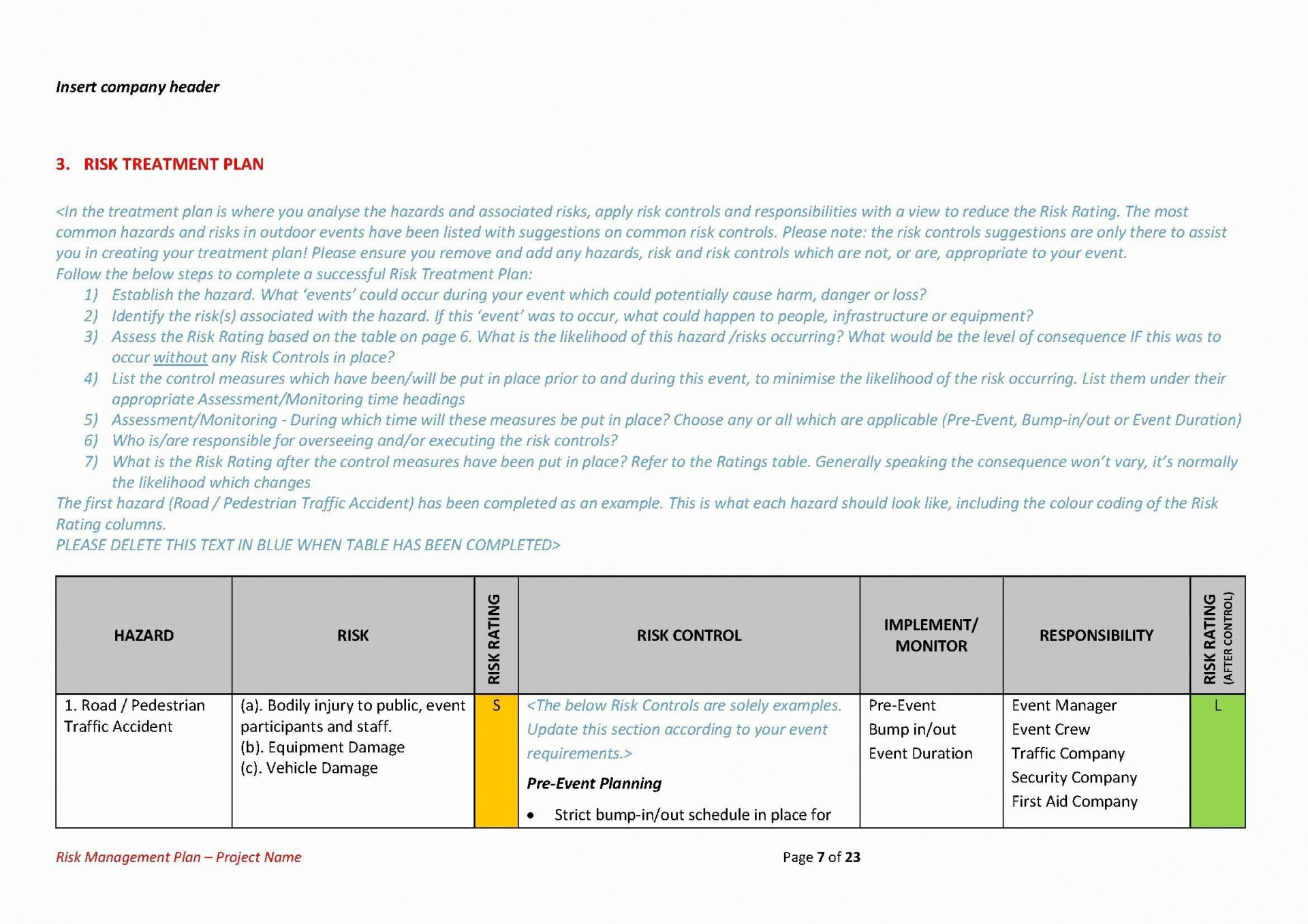004 Surprising Project Management Plan Template Doc High Resolution  Example1920