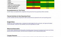 004 Surprising Project Management Weekly Report Template Excel Example  Statu Progres