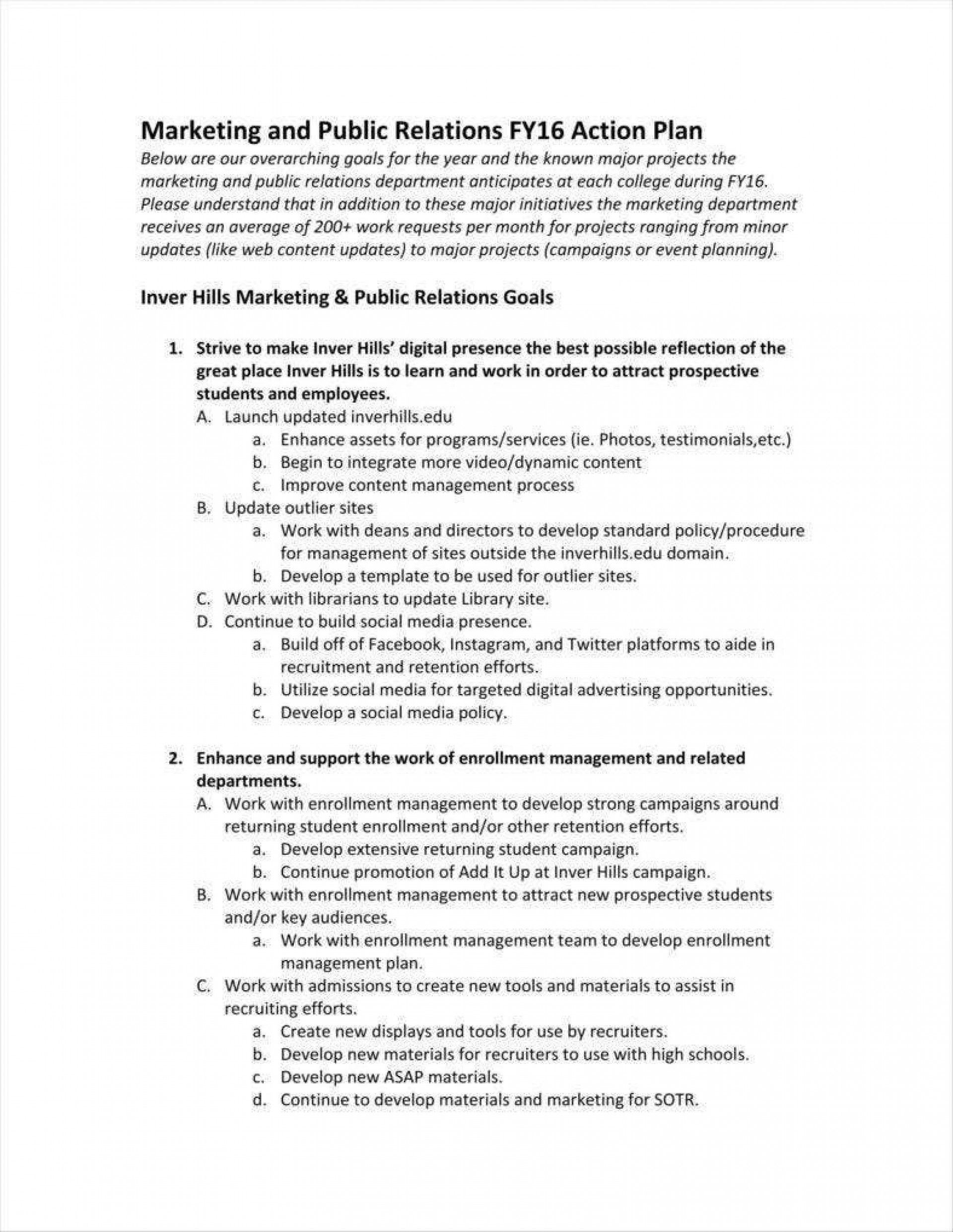 004 Surprising Public Relation Strategy Plan Template Sample  Example1920