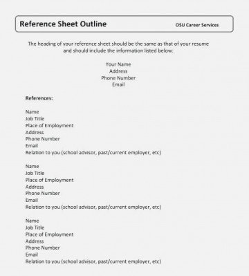 004 Surprising Resume Reference List Template Microsoft Word High Def 360