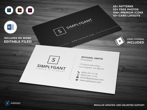 004 Surprising Simple Busines Card Template Free Design  Minimalist Illustrator480