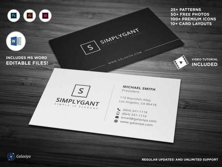 004 Surprising Simple Busines Card Template Free Design  Minimalist Illustrator728
