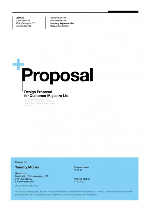 004 Surprising Web Development Proposal Template Free Concept 480