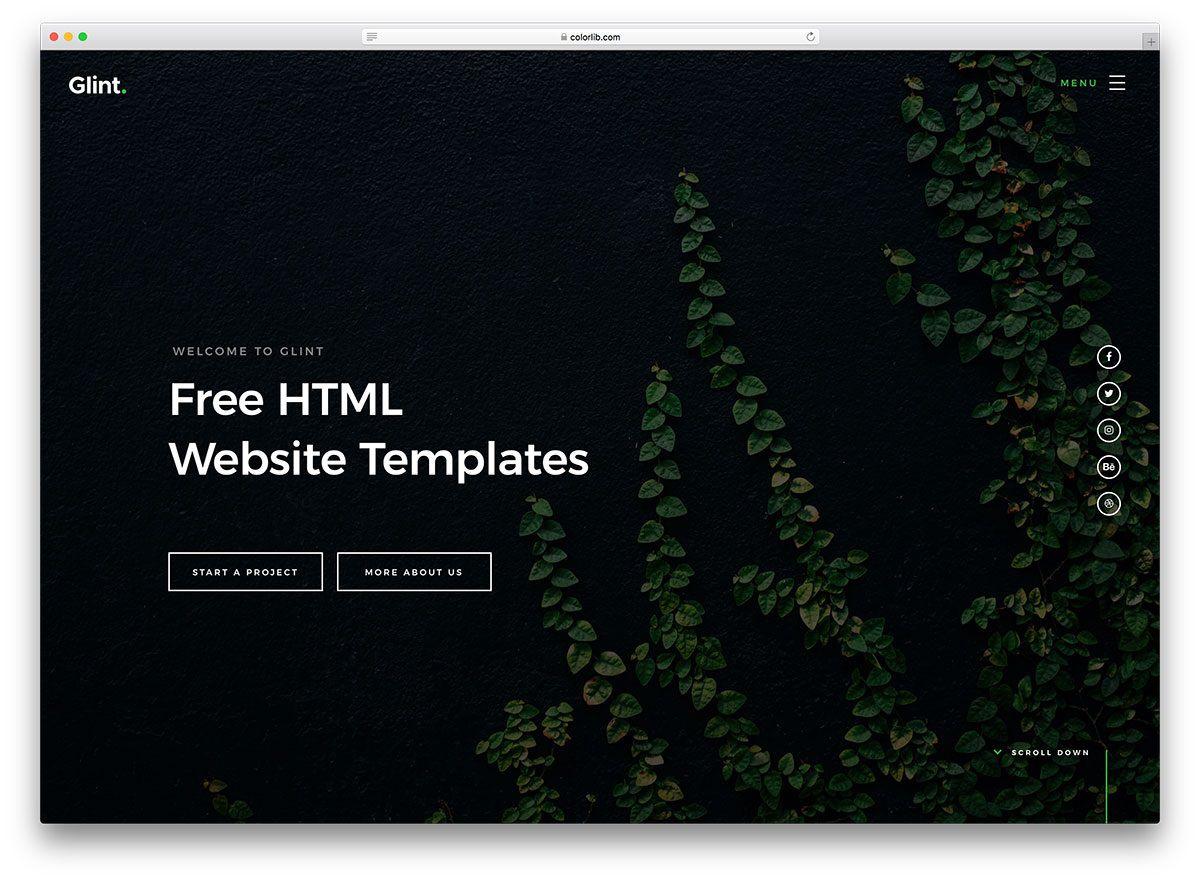 004 Surprising Website Template Html Code Free Download Image Full