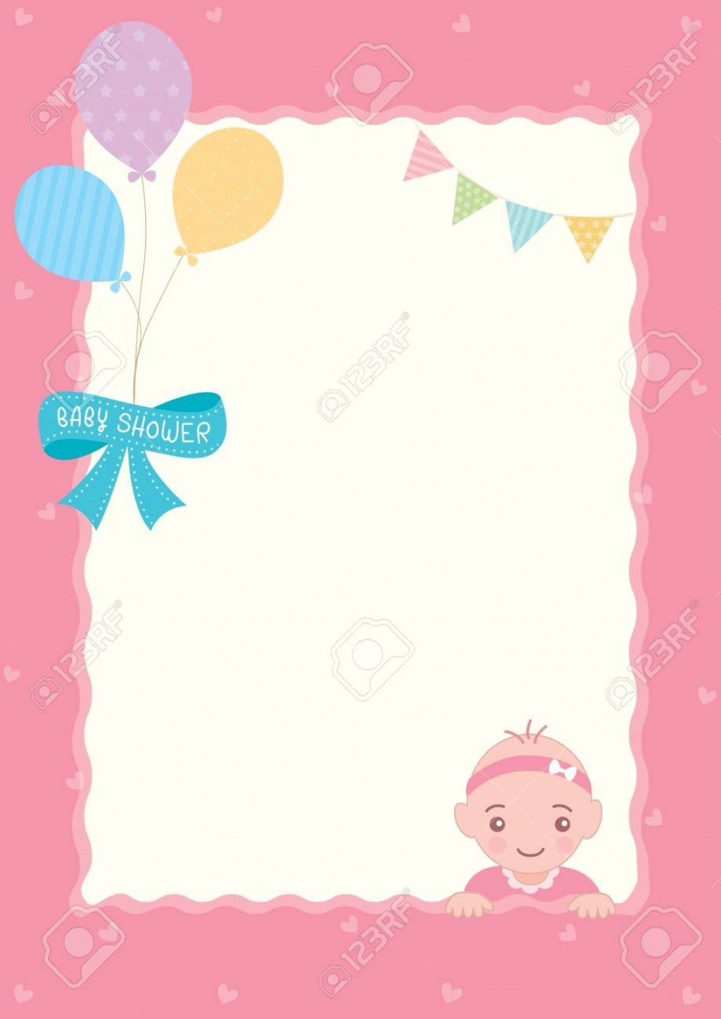 004 Top Baby Shower Template Girl Picture  Nautical Invitation Free For WordLarge
