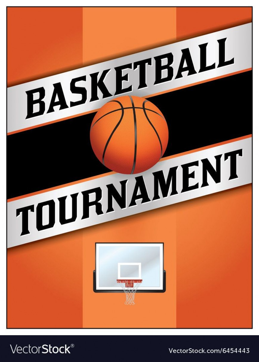 004 Top Basketball Tournament Flyer Template Highest Quality  3 On Free868