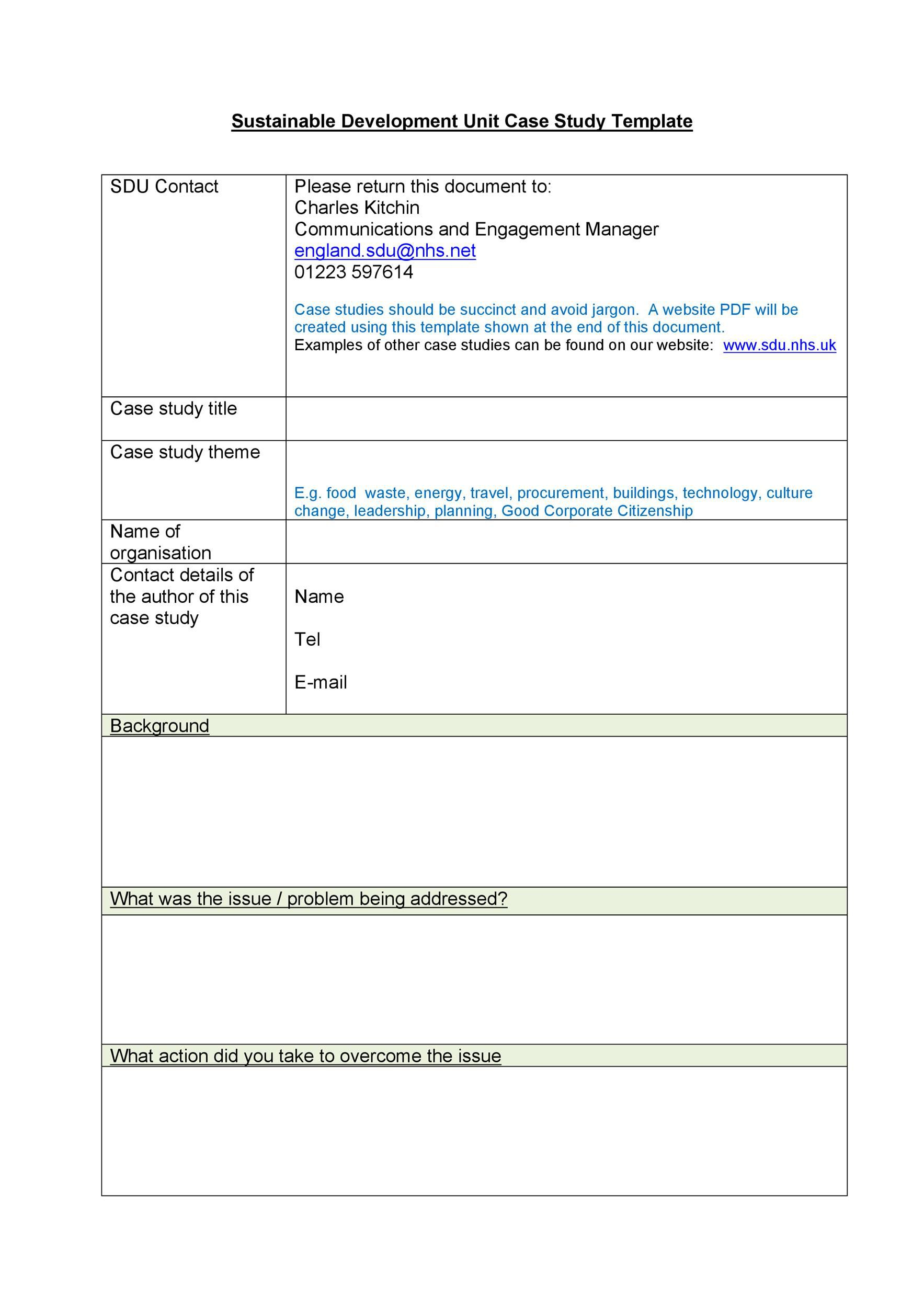 004 Top Busines Case Study Template Concept  One Page Download PptFull