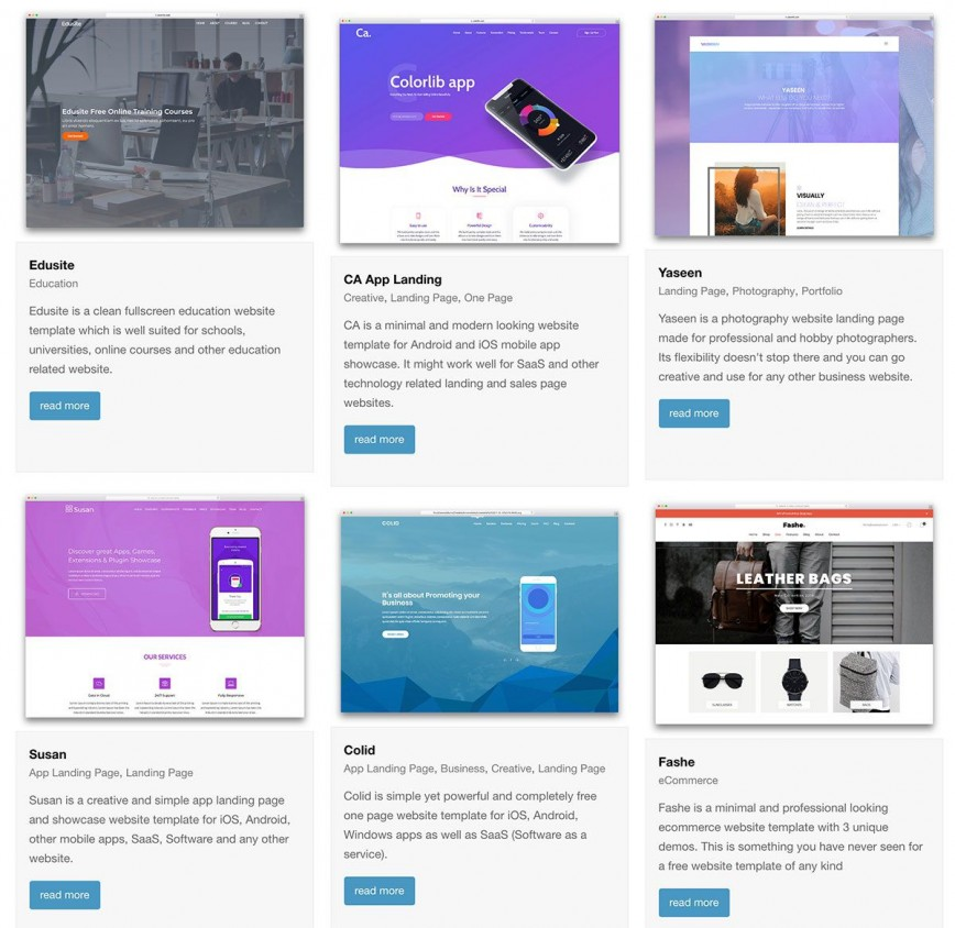 004 Top Creative One Page Website Template Free Download Concept