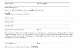 004 Top Direct Deposit Agreement Authorization Form Template Sample