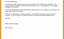 004 Top Email Cover Letter Example For Resume Picture  Sample Through Attached