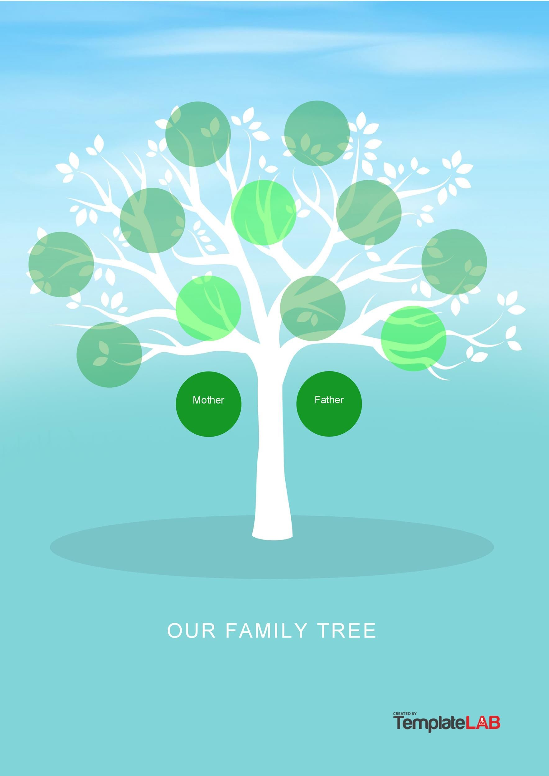 004 Top Family Tree Template Word Free Download Idea Full
