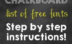 004 Top First Birthday Chalkboard Template High Resolution  Diy Printable Free