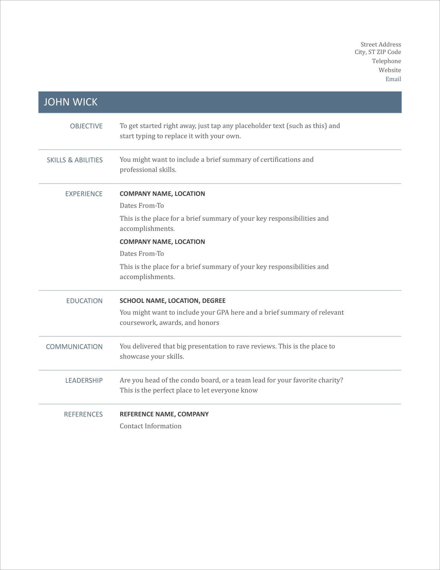 004 Top Free Basic Resume Template Idea  Templates Online Microsoft WordFull