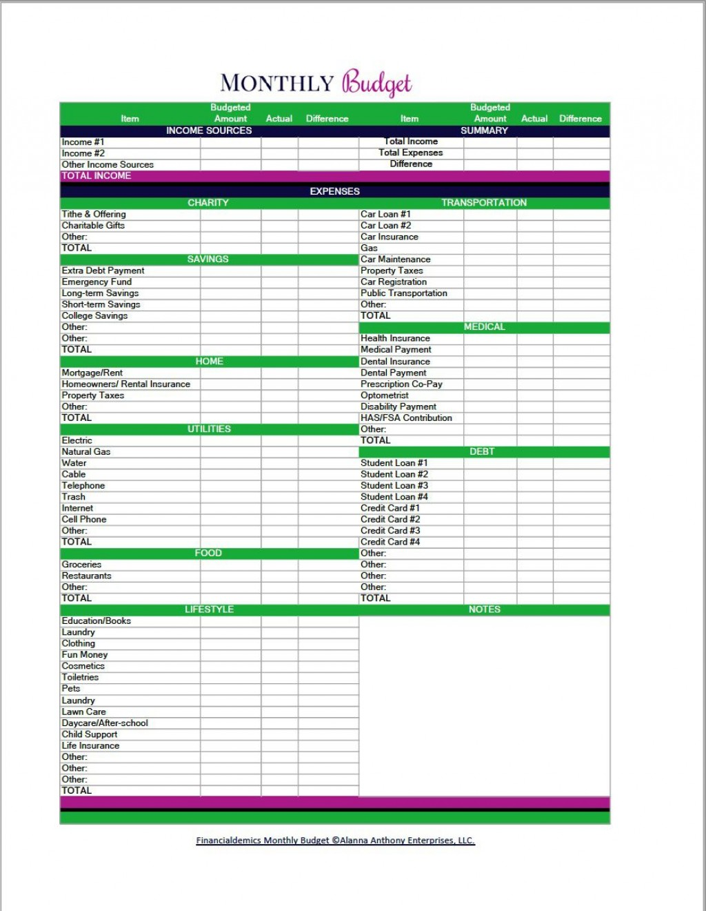 004 Top Free Blank Monthly Budget Spreadsheet Picture  Sheet Downloadable Worksheet PrintableLarge