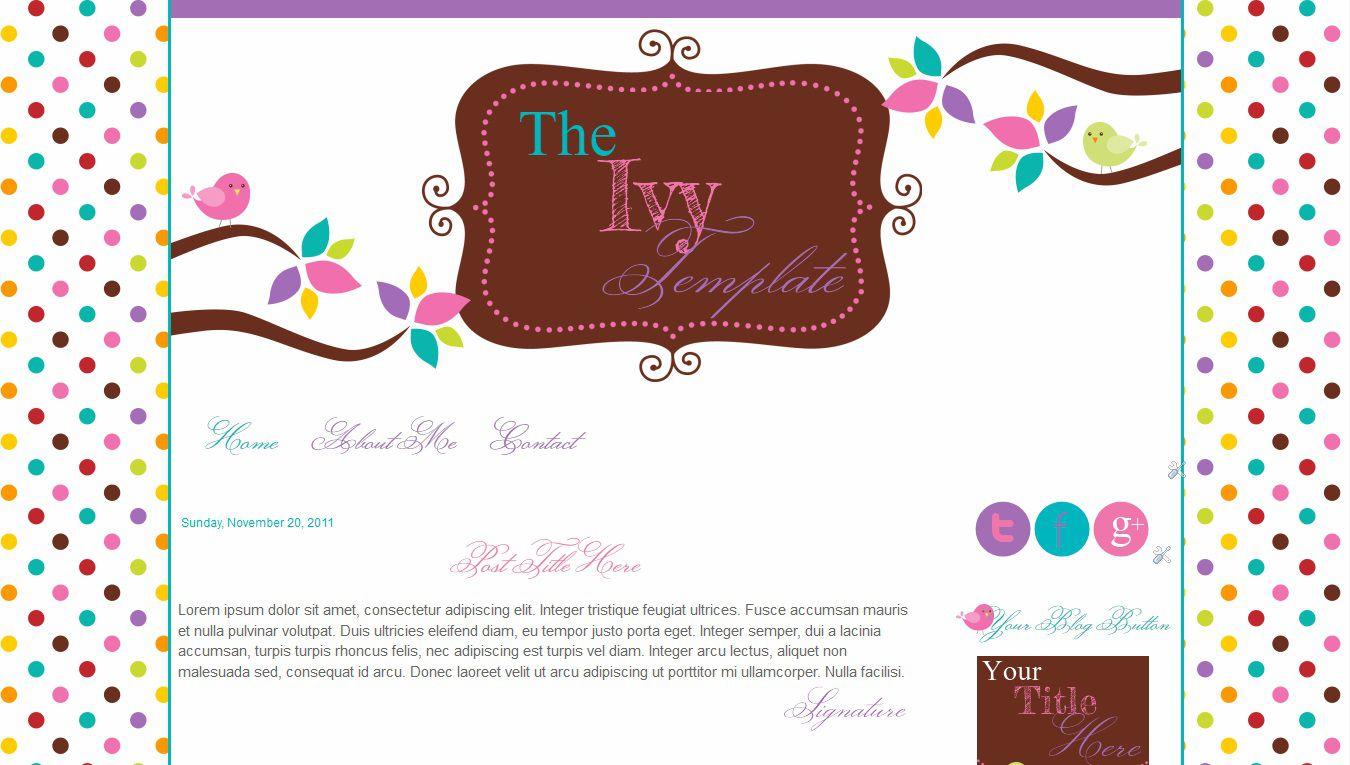 004 Top Free Cute Blogger Template Image  TemplatesFull