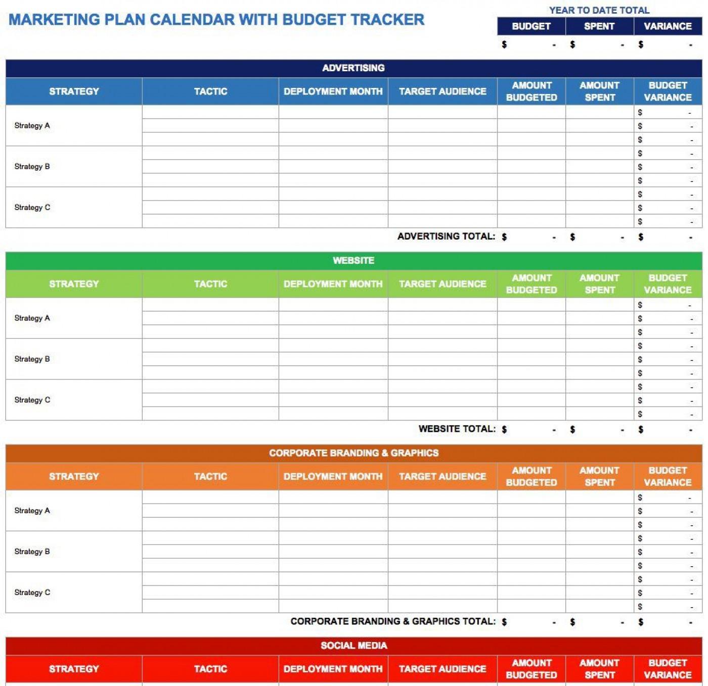 004 Top Free Marketing Plan Template Word Design  Digital Download1400