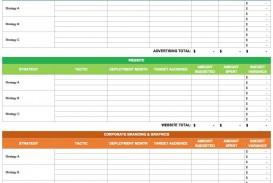 004 Top Free Marketing Plan Template Word Design  Digital Download