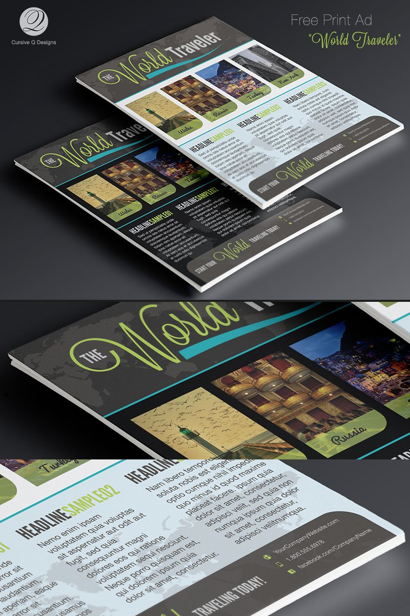 004 Top Free Print Ad Template Image  Templates Real Estate For WordFull