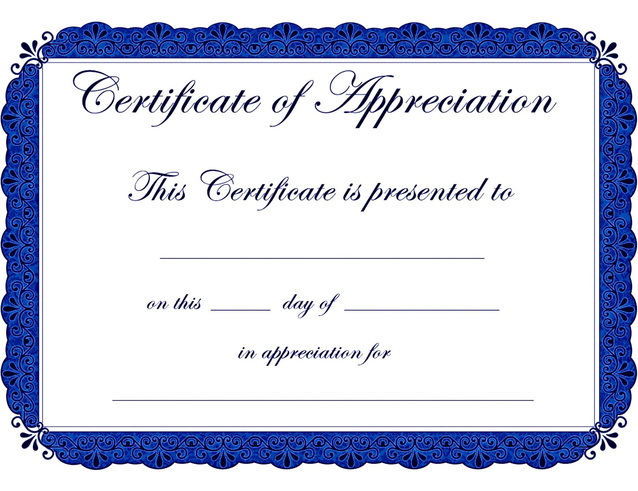 004 Top Free Printable Certificate Template Word High Def  Fun For Blank GiftFull