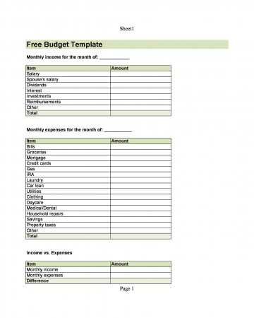 004 Top Free Printable Home Budget Form High Resolution  Template360