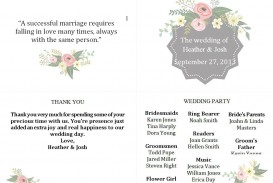 004 Top Free Template For Wedding Ceremony Program Highest Clarity