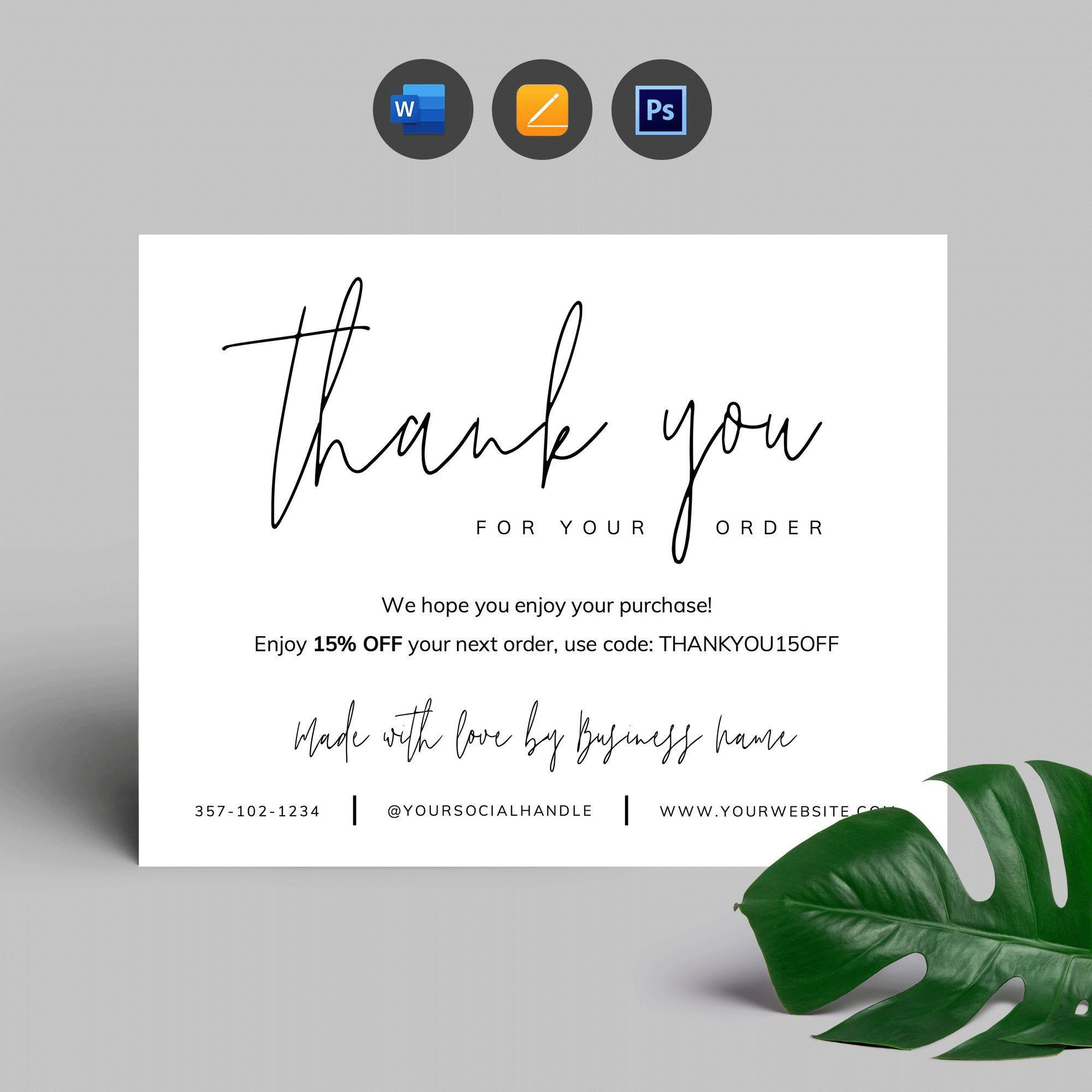 004 Top M Word Thank You Note Template Concept  Microsoft Interview LetterFull