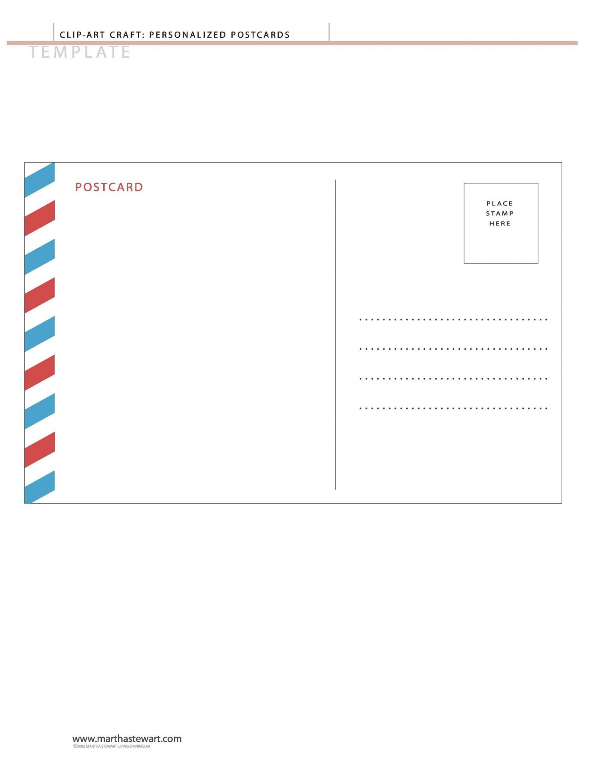 004 Top Postcard Layout For Microsoft Word Highest Quality  4 Template1920