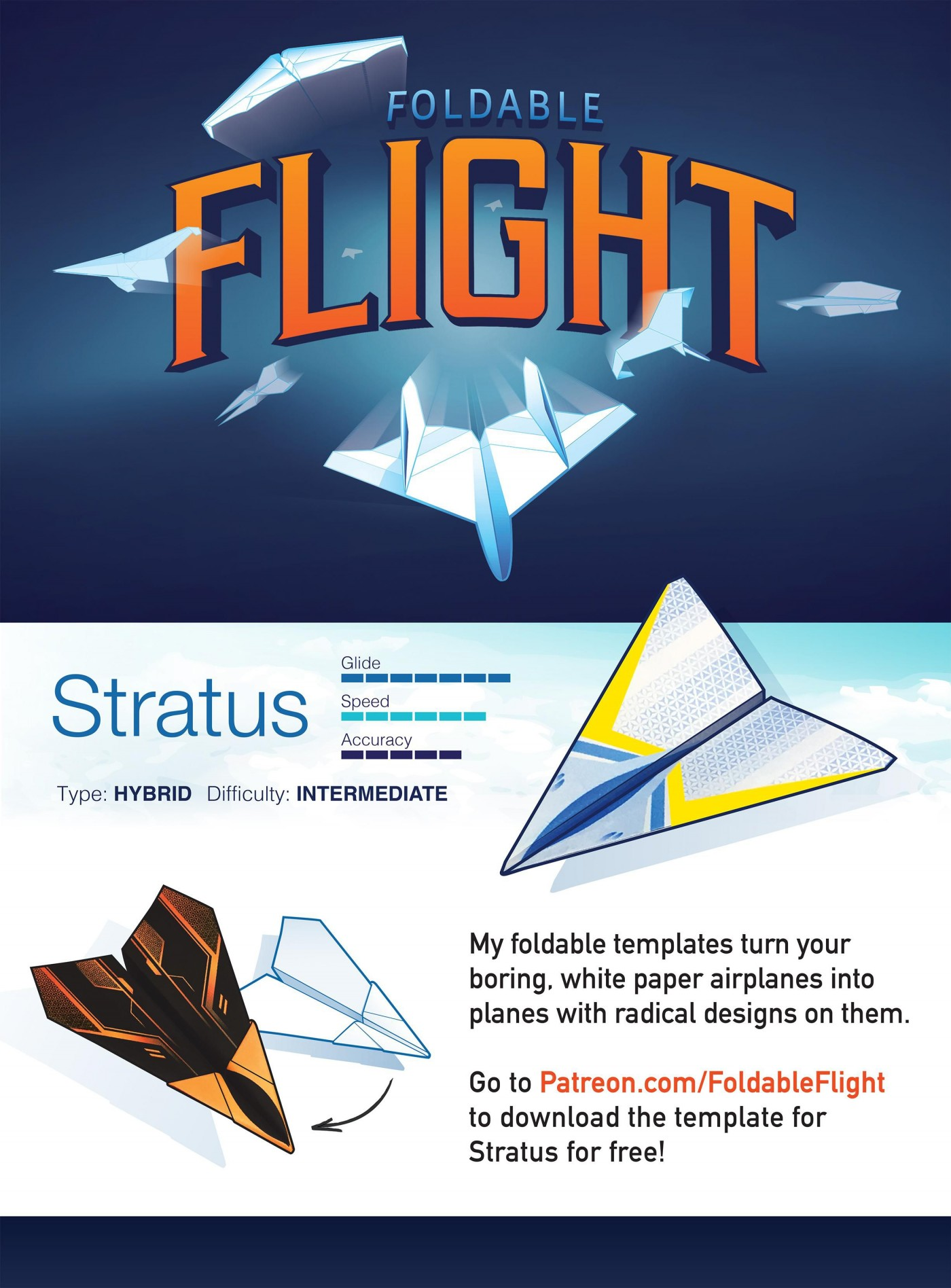 004 Top Printable Paper Airplane Design High Resolution  Free Instruction Pdf Simple A4 Plane1400