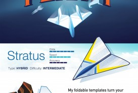 004 Top Printable Paper Airplane Design High Resolution  Free Instruction Pdf Simple A4 Plane