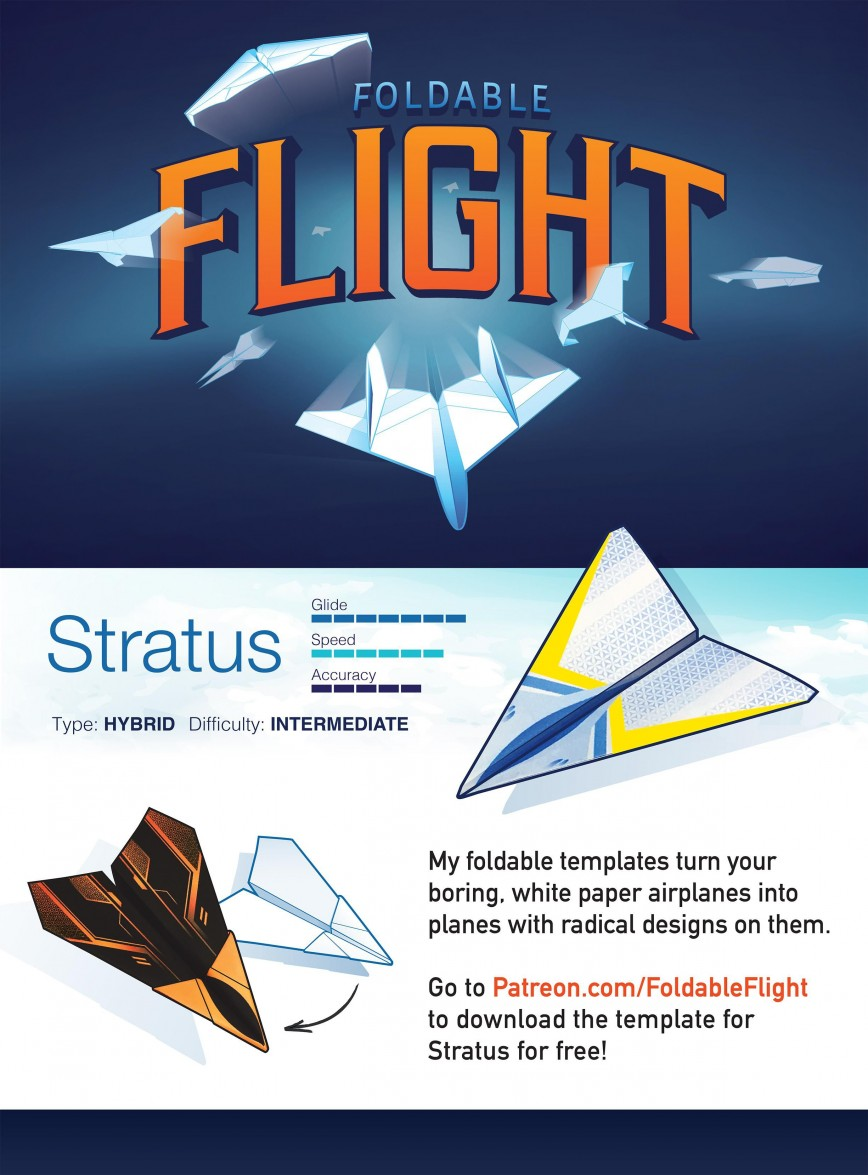 004 Top Printable Paper Airplane Design High Resolution  Free Instruction Pdf Simple A4 Plane868