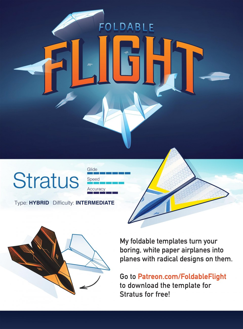 004 Top Printable Paper Airplane Design High Resolution  Free Instruction Pdf Simple A4 Plane960