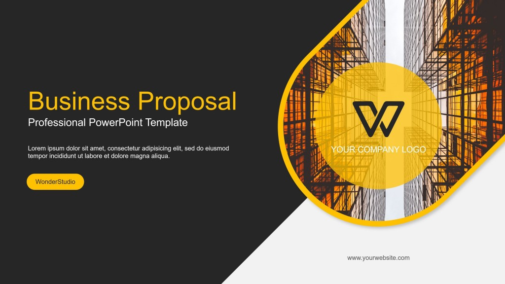 004 Top Professional Ppt Template Free Download Example  For Project Presentation Powerpoint ThesiLarge