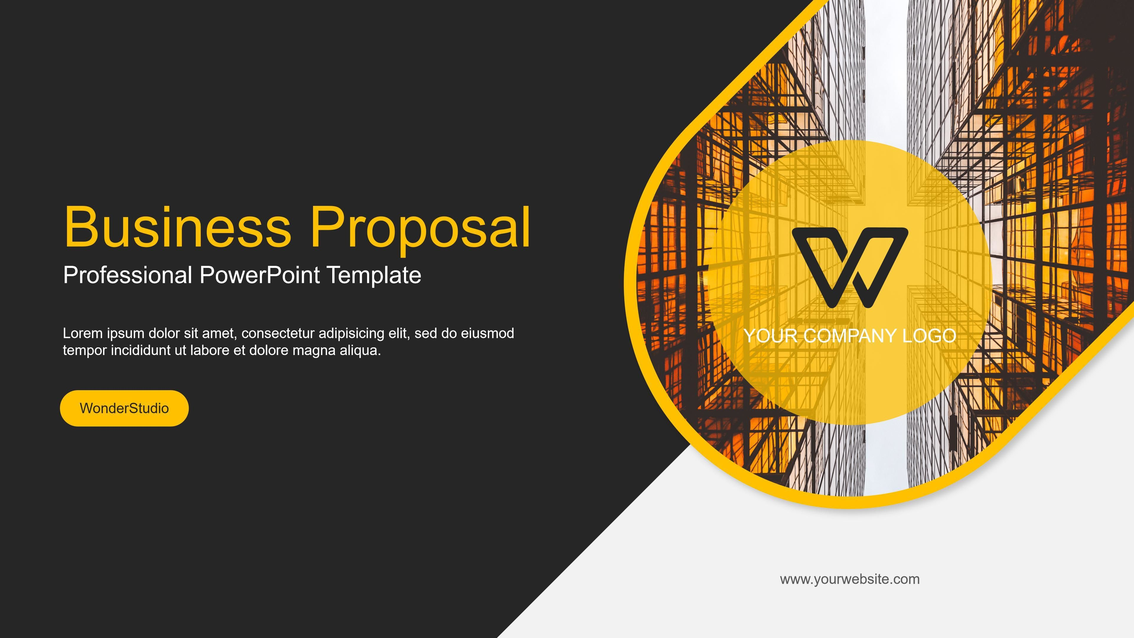 004 Top Professional Ppt Template Free Download Example  For Project Presentation Powerpoint ThesiFull