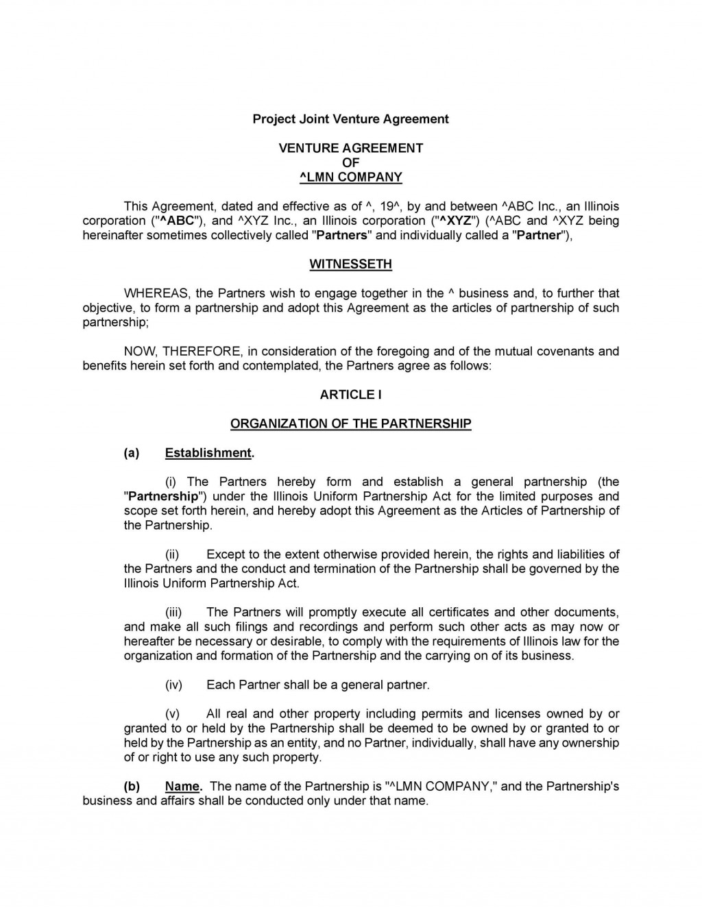 004 Top Property Development Joint Venture Agreement Template Uk Picture Large