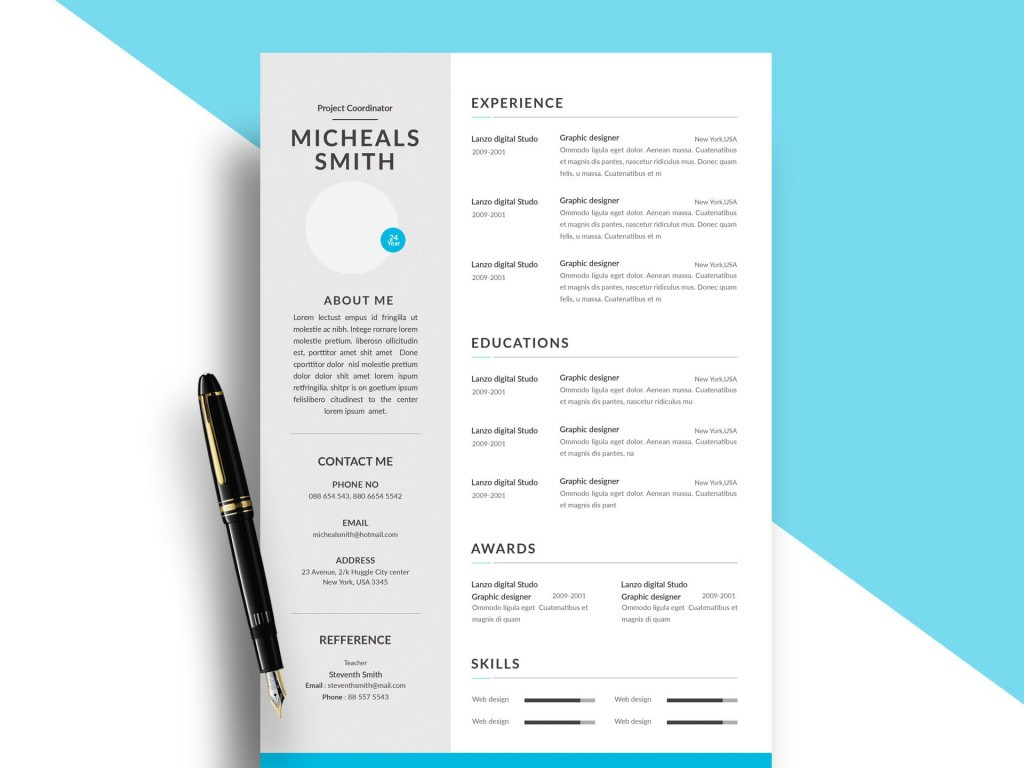 004 Top Psd Resume Template Free Download High Def  Graphic Designer Creative CvLarge