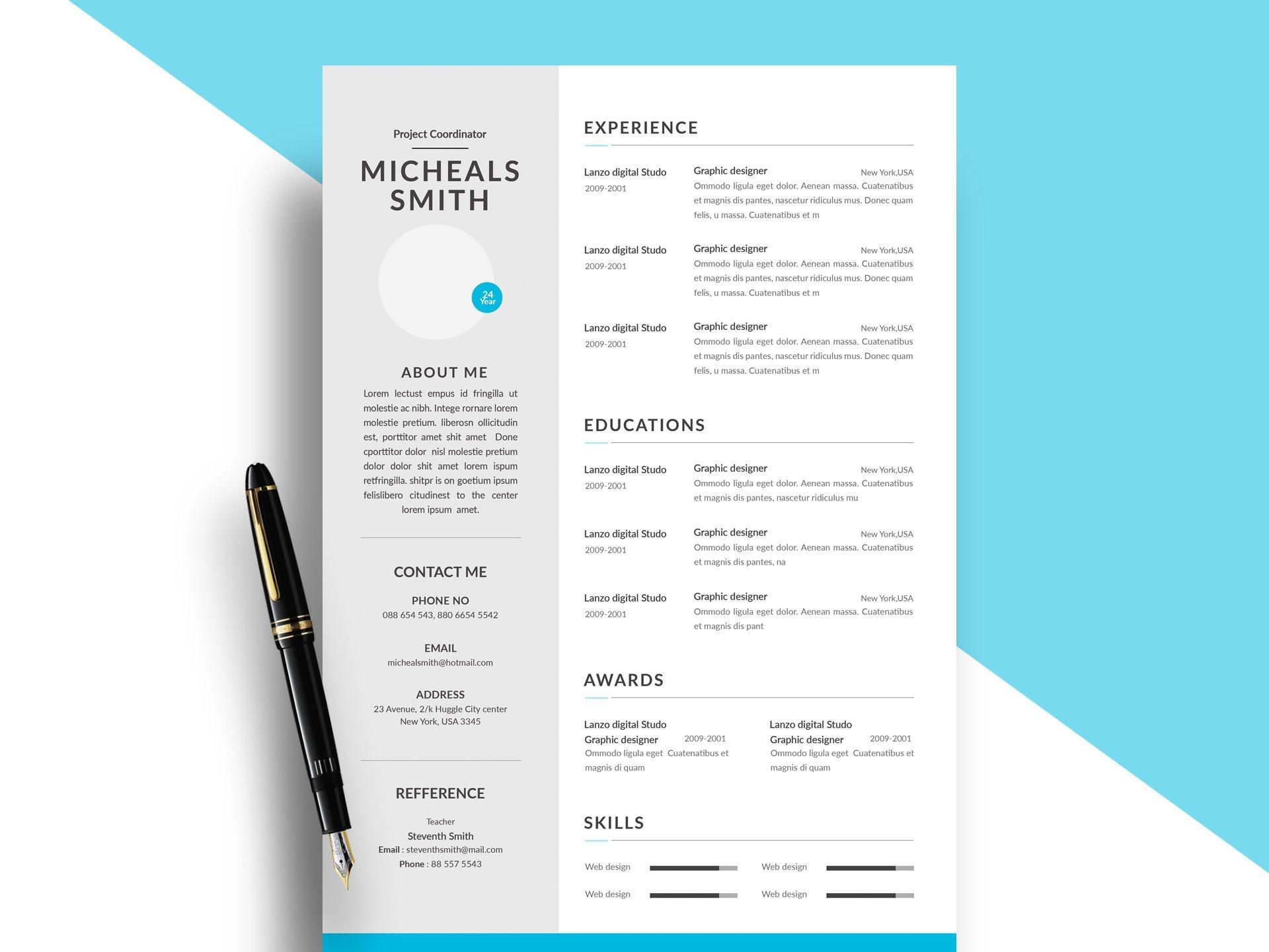 004 Top Psd Resume Template Free Download High Def  Graphic Designer Creative Cv1920