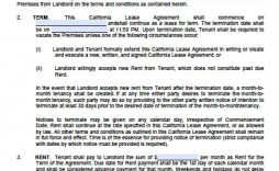 004 Top Rental House Contract Template Free Concept  Agreement Form Property Lease