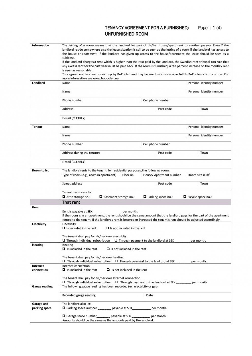 004 Top Room Rental Agreement Template Uk Free High Resolution  Word DocLarge