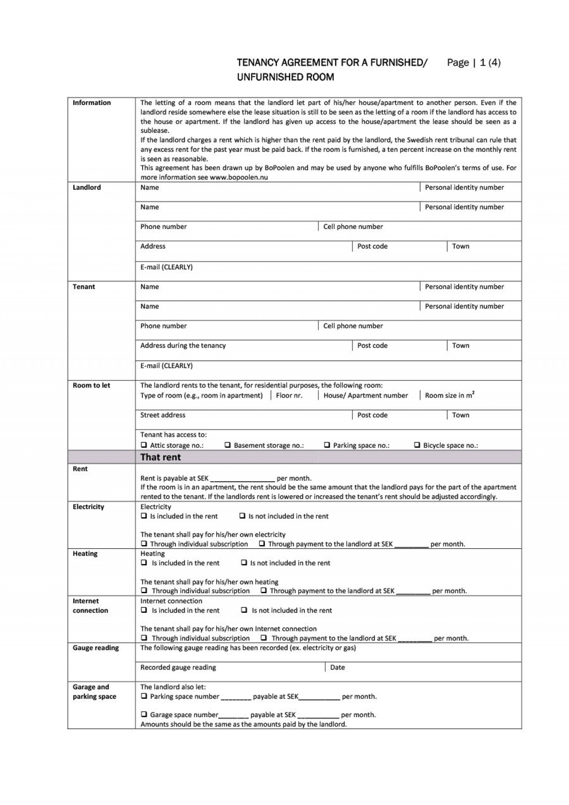004 Top Room Rental Agreement Template Uk Free High Resolution  Word Doc1920