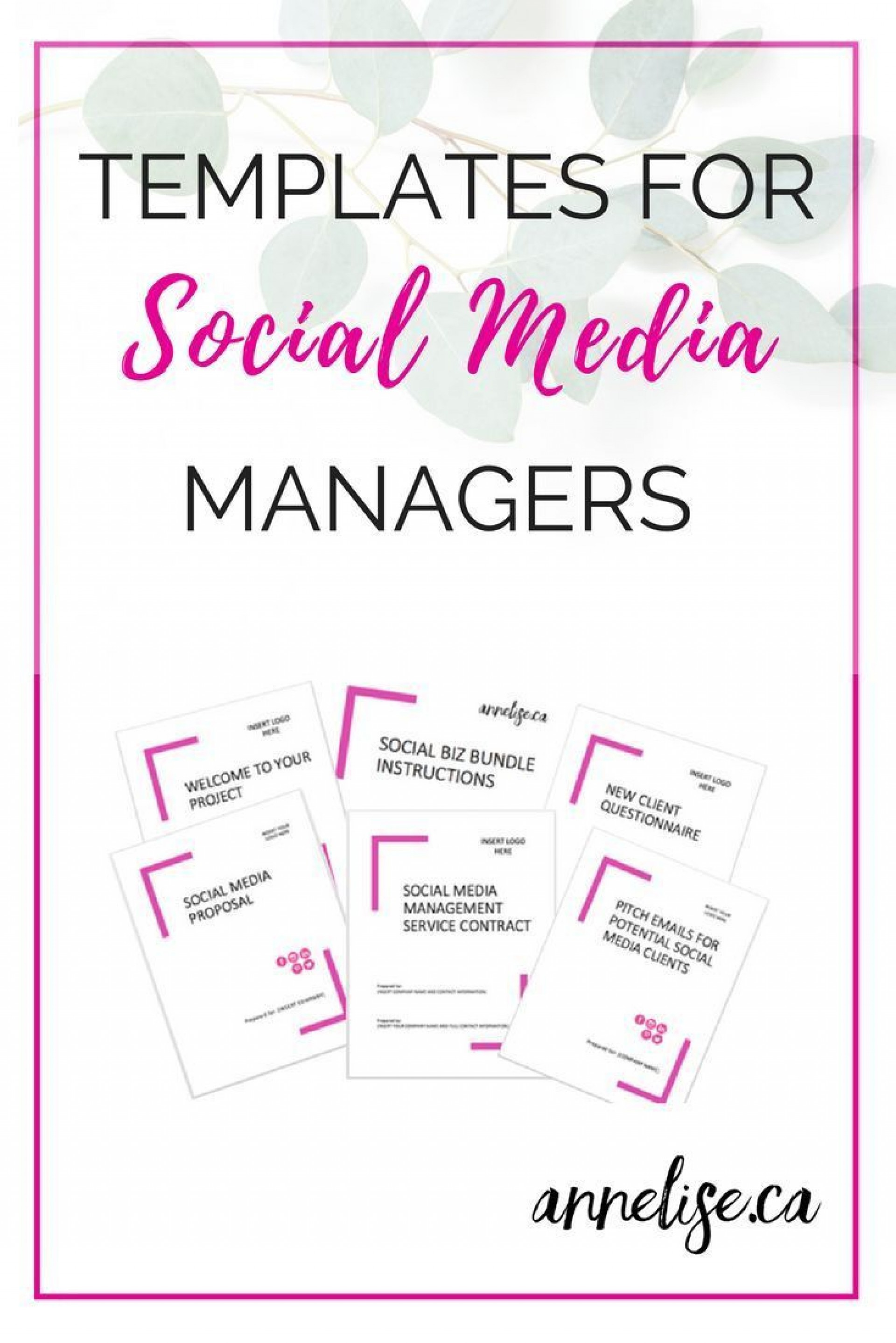 004 Top Social Media Proposal Template Photo  Ppt Marketing Word 20191920