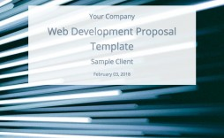 004 Top Website Development Proposal Template Word Picture  Free