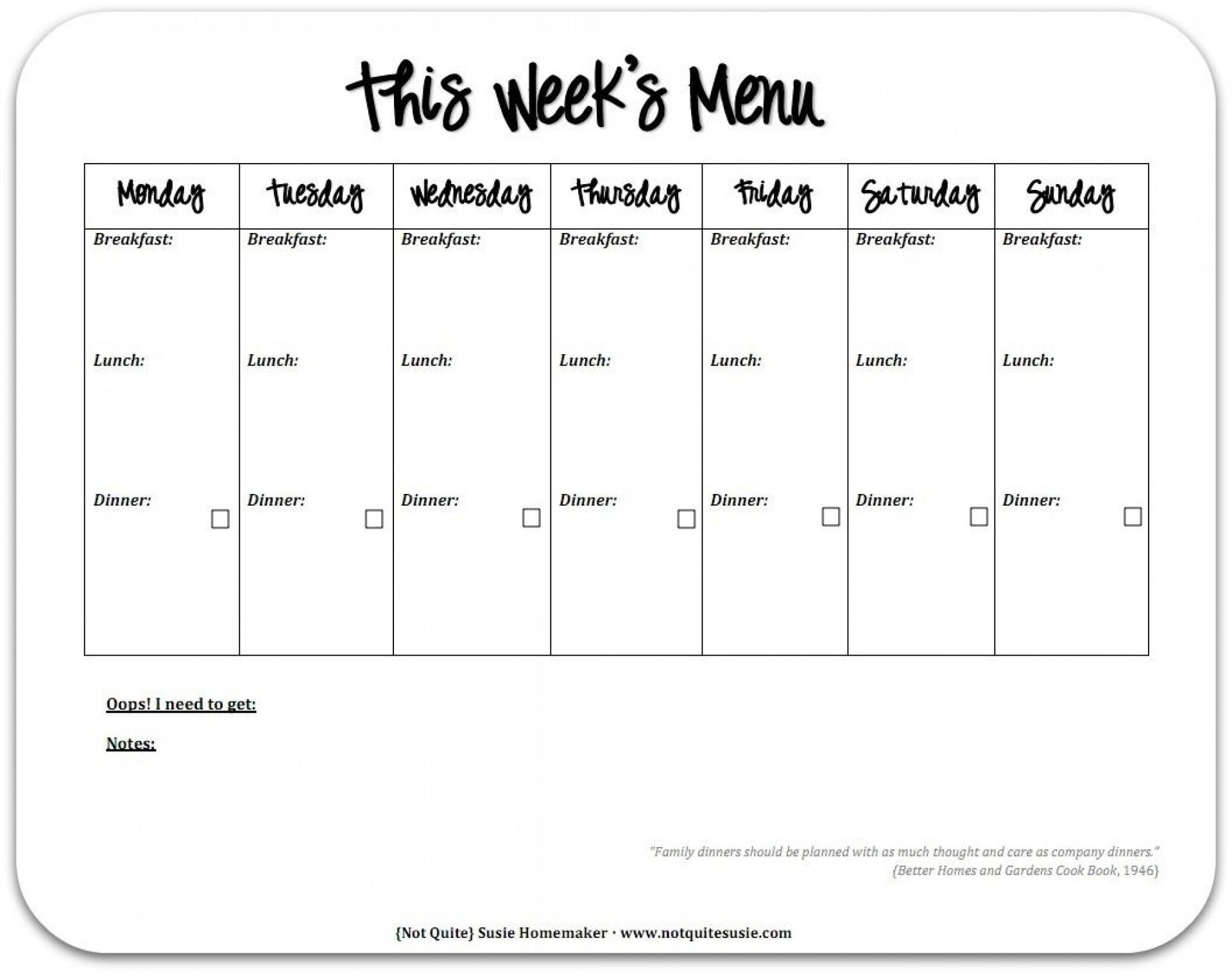 004 Top Weekly Eating Plan Template Example  Food Planner Excel Meal Download1920
