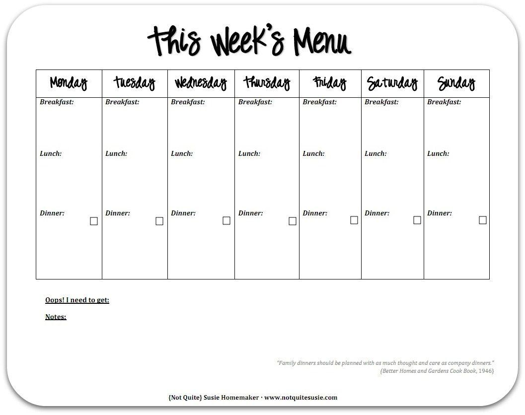004 Top Weekly Eating Plan Template Example  Food Planner Excel Meal DownloadFull