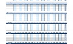 004 Top Work Schedule Format In Excel Download Example  Template Employee Training Plan Free