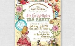 004 Unbelievable Alice In Wonderland Birthday Party Invitation Printable Free High Def