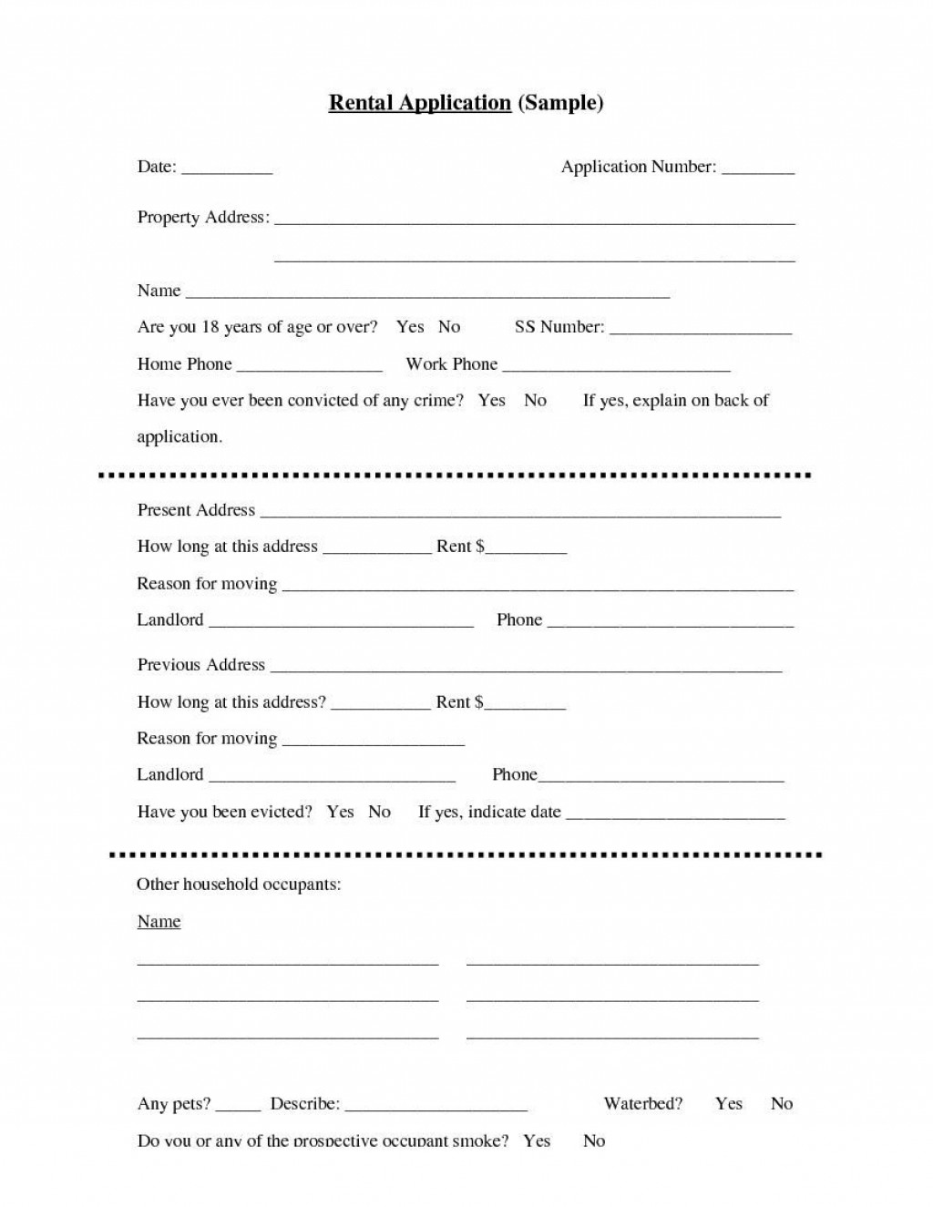 004 Unbelievable Apartment Rental Application Template Photo  Free Form OntarioLarge