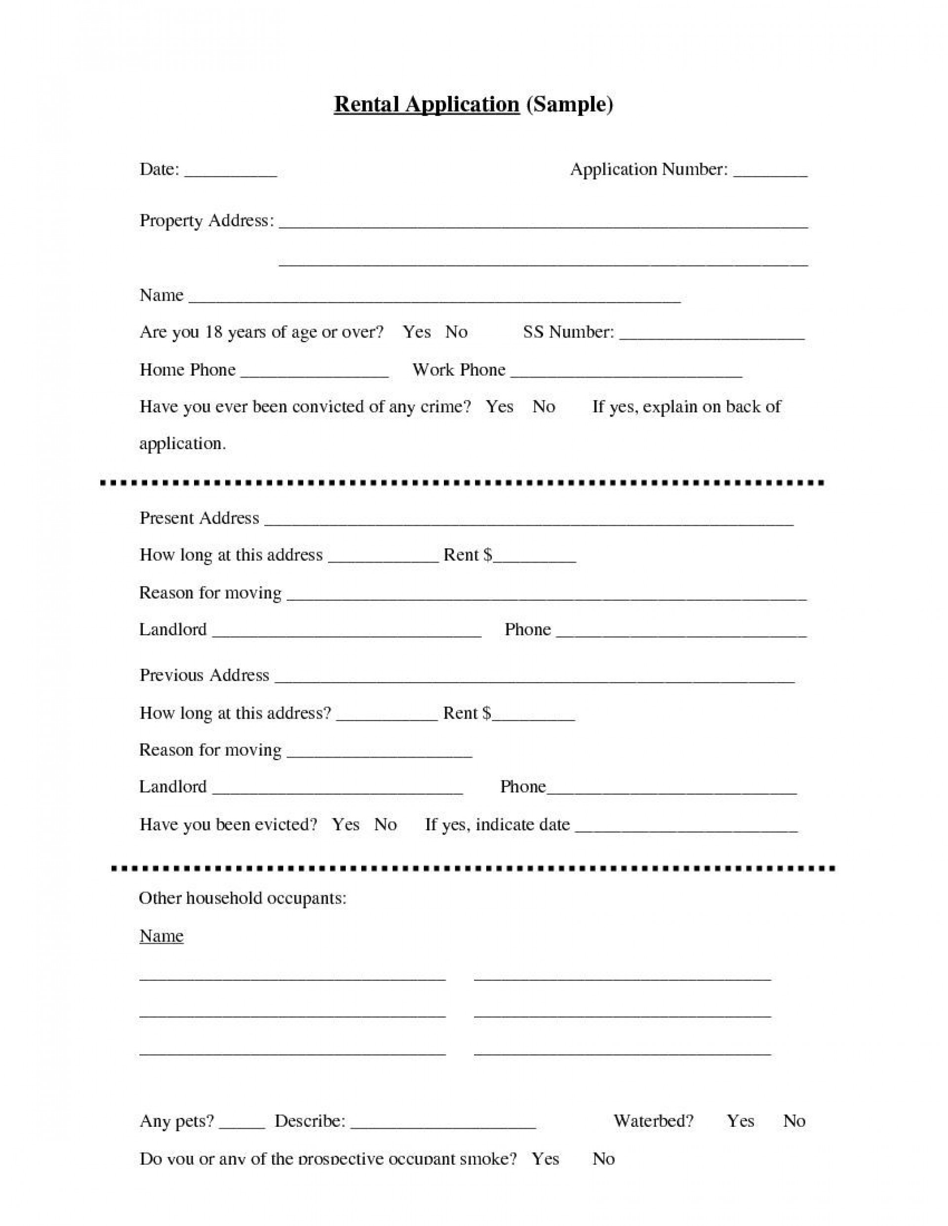 004 Unbelievable Apartment Rental Application Template Photo  Free Form Ontario1920
