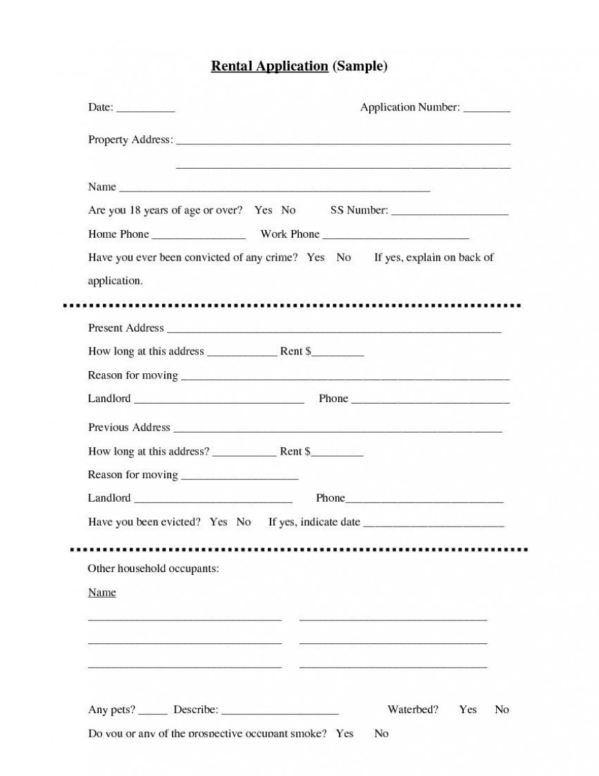 004 Unbelievable Apartment Rental Application Template Photo  Tenant Form Renting Ontario