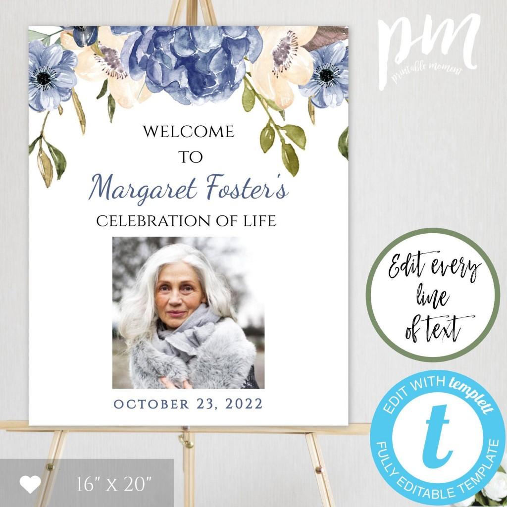 004 Unbelievable Celebration Of Life Template Free Download Design  InvitationLarge
